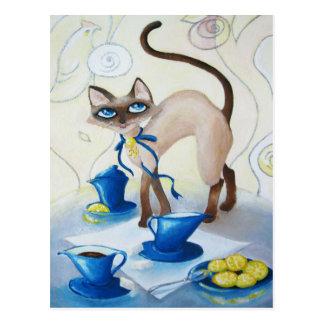Cartão Postal Siamese - belas artes