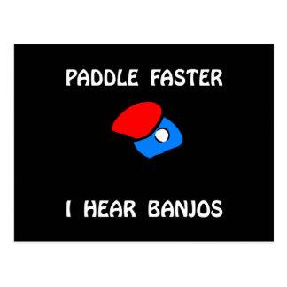 Cartão Postal Sibilo mais rápido Pong da pá
