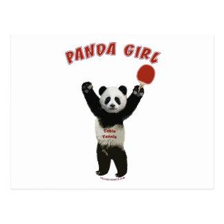 Cartão Postal Sibilo Pong da menina da panda