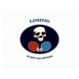 Cartão Postal Sibilo Pong da opção do crânio do pirata