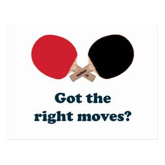 Cartão Postal Sibilo Pong dos movimentos do direito