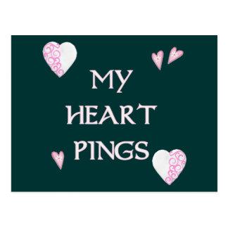 Cartão Postal Sibilo Pong dos sibilos do coração