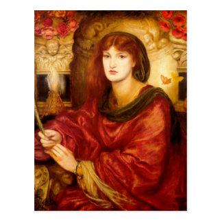 Cartão Postal Sibylla Palmifera por Dante Gabriel Rossetti