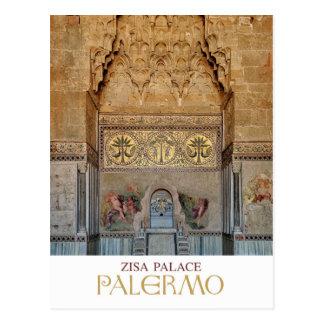 Cartão Postal Sicília - Palermo - palácio de Zisa