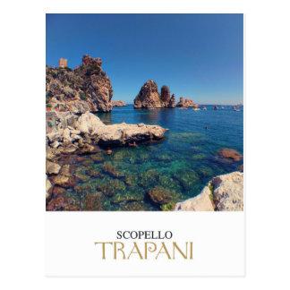 Cartão Postal Sicília - Trapani - Almodrava di Scopello