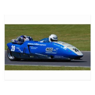 Cartão Postal Side-car F2 azul