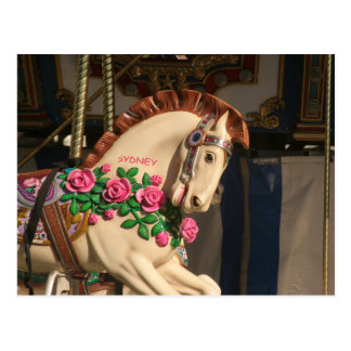 Cartão Postal Sidney o cavalo do carrossel