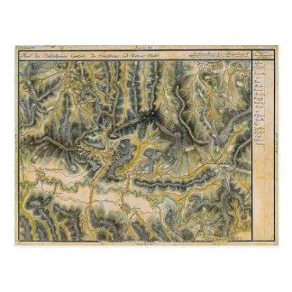 Cartão Postal Sighisoara, mapa do século XIX