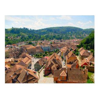 Cartão Postal Sighisoara, telhados da cidade