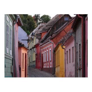 Cartão Postal Sihgisoara, casas päinted