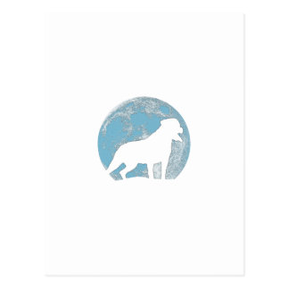 Cartão Postal Silhueta da lua de Rottweiler