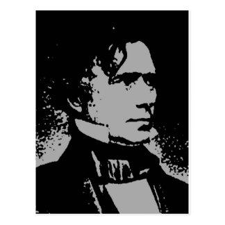Cartão Postal Silhueta de Franklin Pierce