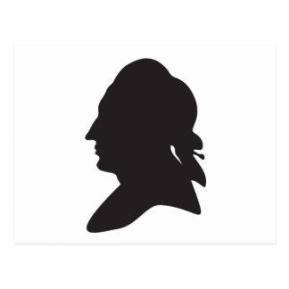 Cartão Postal silhueta de Goethe