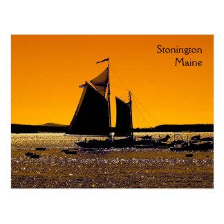Cartão Postal Silhueta de Stonington