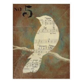 Cartão Postal Silhueta de um pássaro