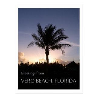 Cartão Postal Silhueta de Vero Beach