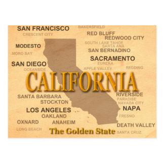 Cartão Postal Silhueta do mapa do orgulho do estado de