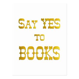 Cartão Postal Sim aos livros