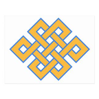 Cartão Postal Símbolo auspicioso do nó infinito budista