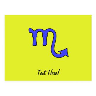 Cartão Postal Símbolo da Escorpião