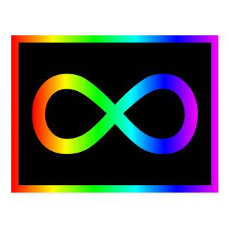 Cartão Postal Símbolo da infinidade do arco-íris