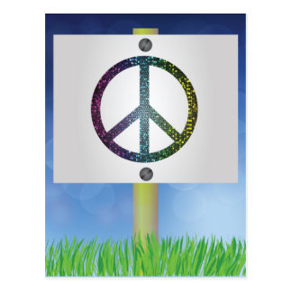 Cartão Postal símbolo de paz