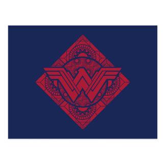 Cartão Postal Símbolo do Amazonas da mulher maravilha