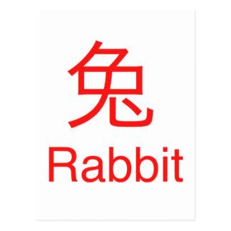 Cartão Postal Símbolo do coelho