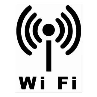 Cartão Postal Símbolo dos Wi Fi