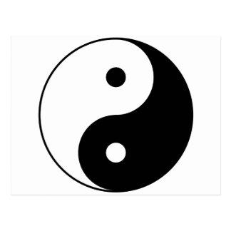Cartão Postal Símbolo filosófico inspirador de Yin e de Yang