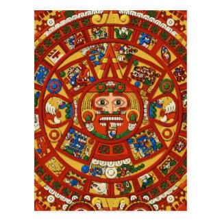 Cartão Postal Símbolo maia antigo do calendário