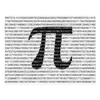 Cartão Postal Símbolo matemático do dia preto original do pi do