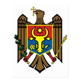 Cartão Postal Símbolo oficial da heráldica da brasão de Moldova