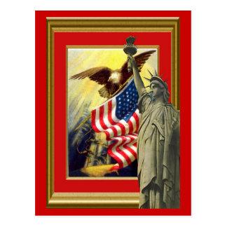 Cartão Postal Símbolos americanos