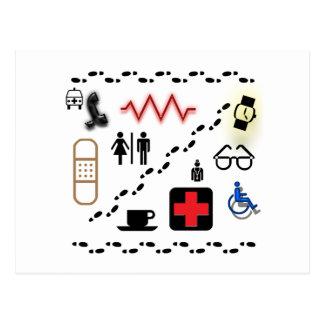 Cartão Postal Símbolos da saúde