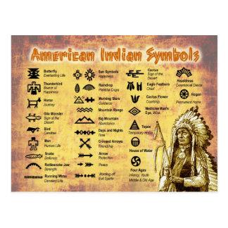 Cartão Postal Símbolos do indiano do nativo americano