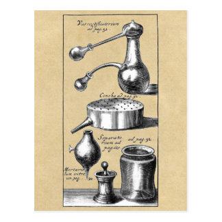 Cartão Postal Símbolos e ferramentas de um alquimista