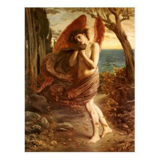 Cartão Postal Simeon Solomon: Amor no outono