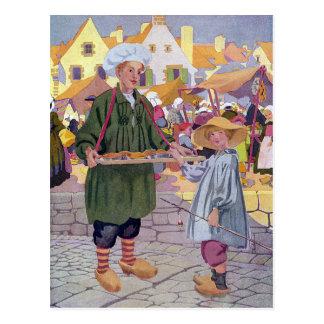 Cartão Postal Simon simples e Pieman na feira