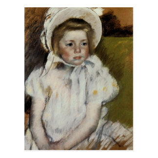 Cartão Postal Simone em uma capota branca