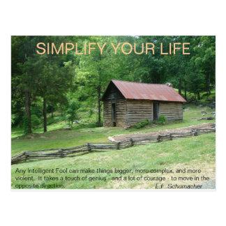 Cartão Postal Simplifique sua vida