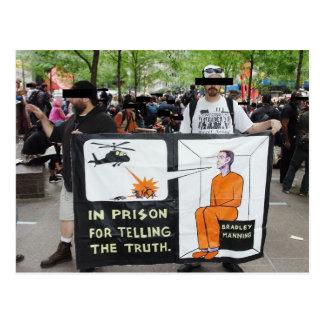Cartão Postal Sinais do protesto de OWS (cartão)