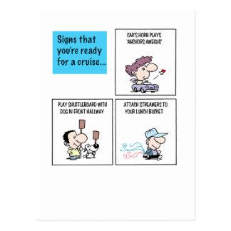 Cartão Postal Sinais que você está pronto para um cruzeiro - (b)