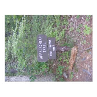 Cartão Postal sinal apalaches do passeio da fuga