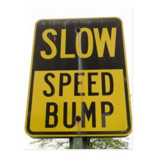Cartão Postal Sinal da colisão de velocidade