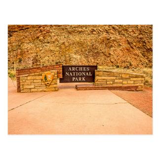 Cartão Postal Sinal da entrada do parque nacional dos arcos