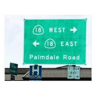 Cartão Postal Sinal da estrada - CA-18 Palmdale Rd