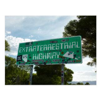 Cartão Postal Sinal da estrada do Extraterrestrial, Rachel