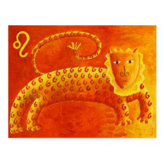 Cartão Postal Sinal da estrela do zodíaco do horóscopo de Leo
