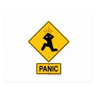 Cartão Postal Sinal de aviso do pânico